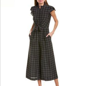 NWT Rebecca Taylor Plaid Silk Windowpane Jumpsuit
